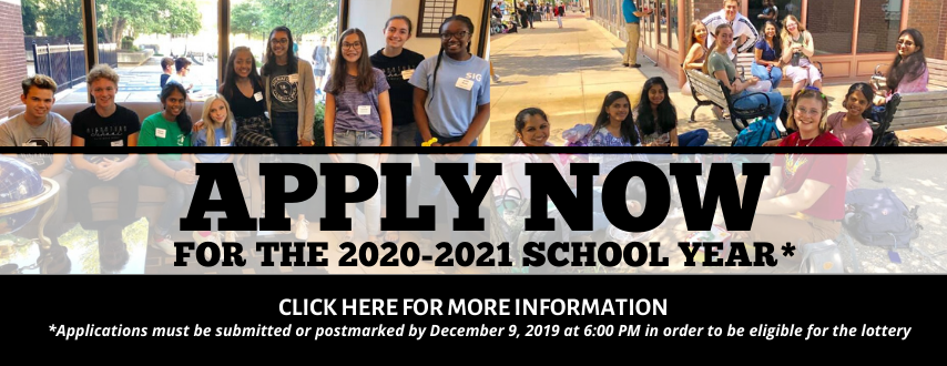Apply now. The open application period for Signature School ends Monday, December 9, 2019 at 6:00 PM. Click here for more information and to access the applications.